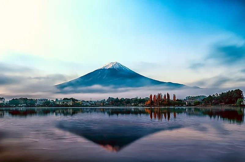 Mt Fuji no início da manhã.