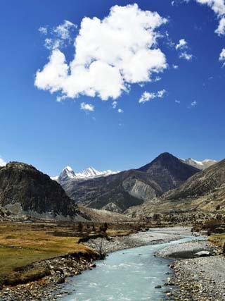 Marsyangdi River Valley, Annapurna Conservation Area, Gandaki, Nepal