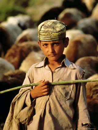 Portrait of a Young Shepherd Boy, Northern Territory, Pakistan