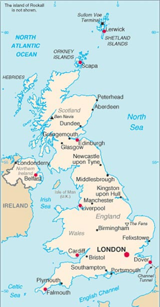 Relative Location England