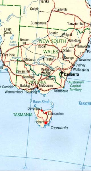 Tasmania Latitude Longitude Absolute And Relative