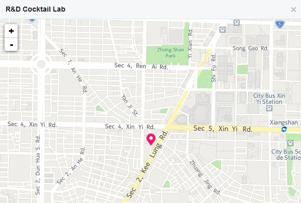 world baijiu day 2016 r&d cocktail lab taipei map