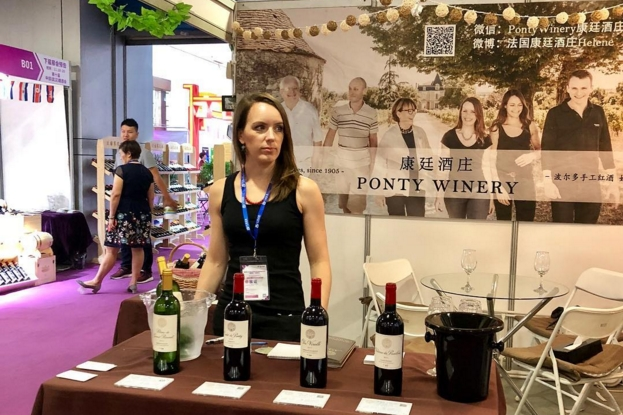 grape wall of china interview with helene ponty photos wuhan trade fair
