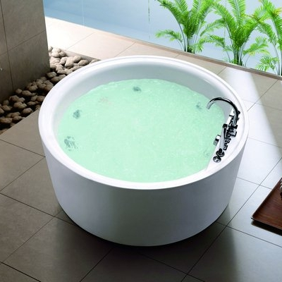 Round Freestanding Indoor Jacuzzi Whirlpool Factory Out