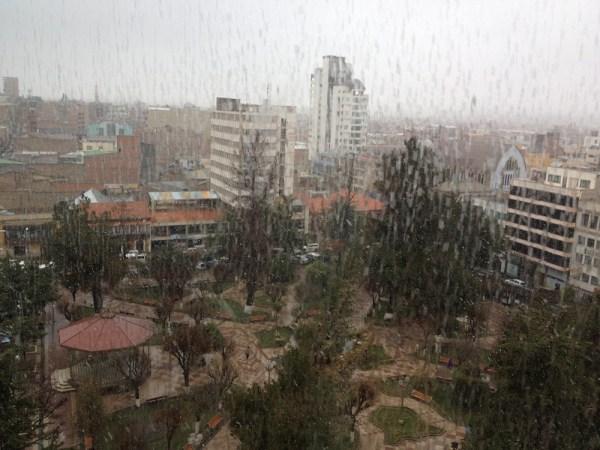heftige Schneeschauer in Oruro