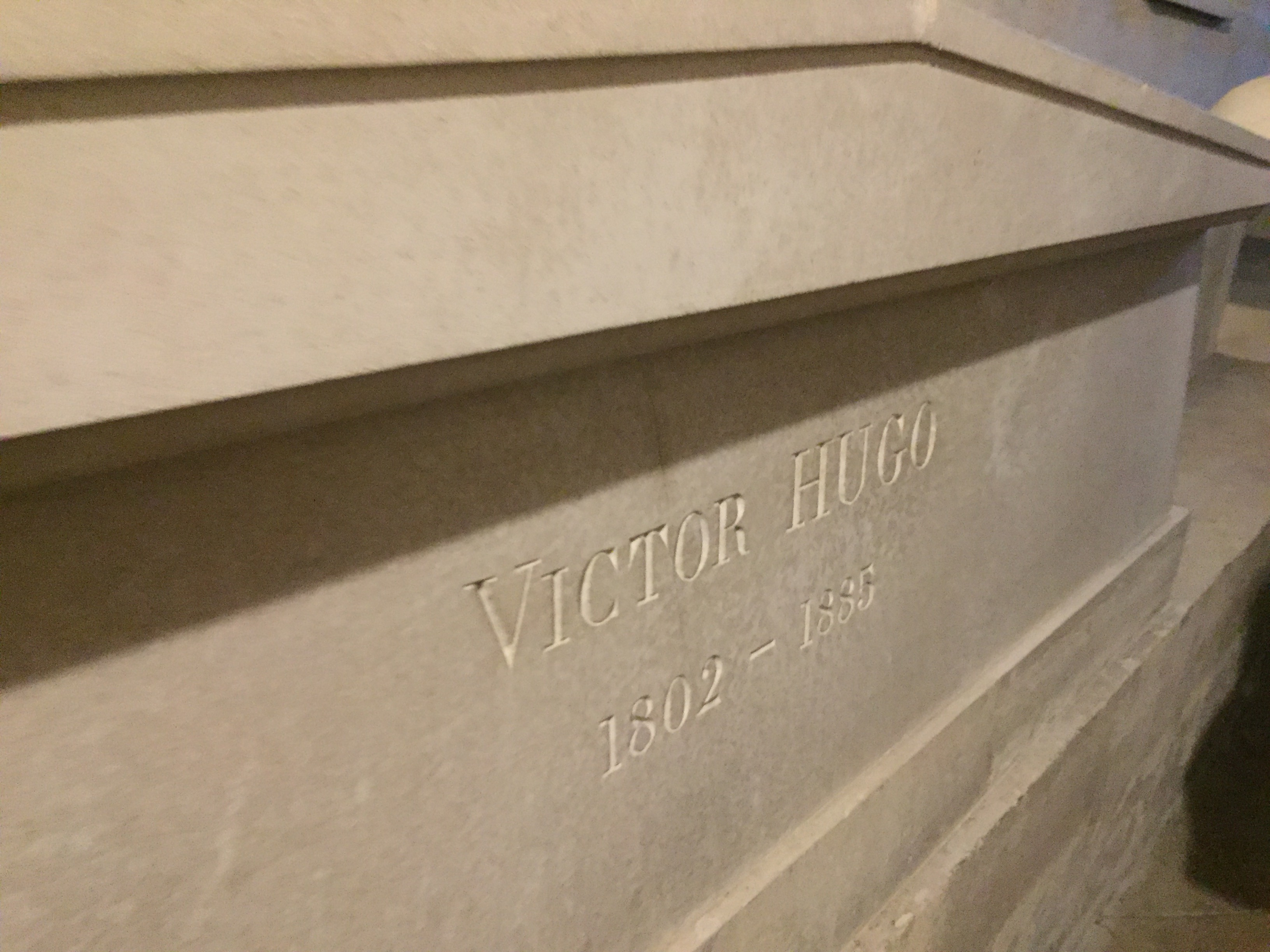 grave of Victor Hugo in Pantheon