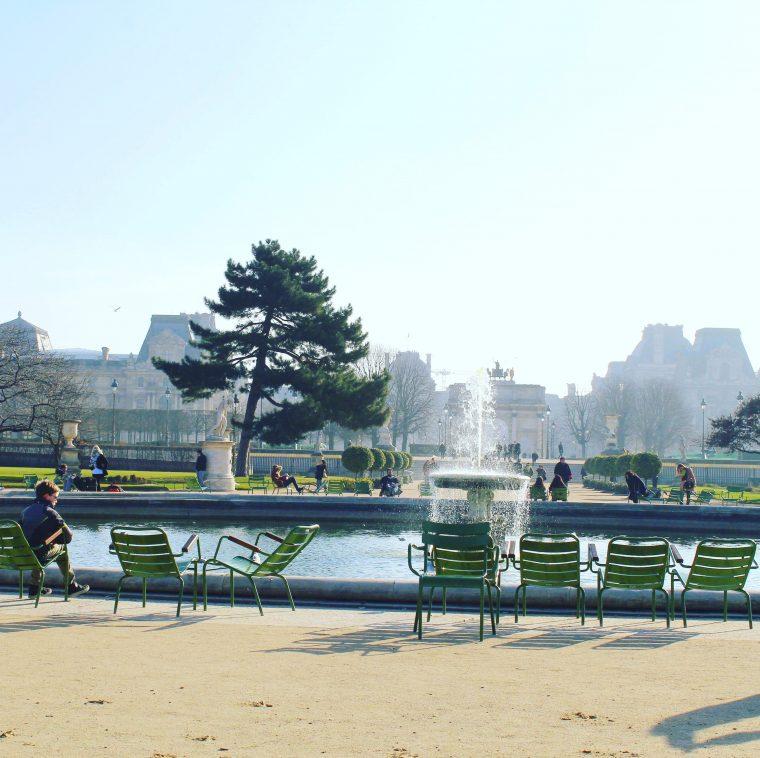 Ogrody Tuileries koło Luwru