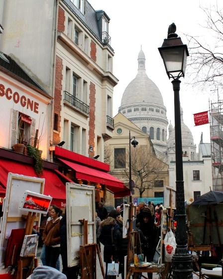 Plac du Tertre obok Bazyliki Sacre Coeur