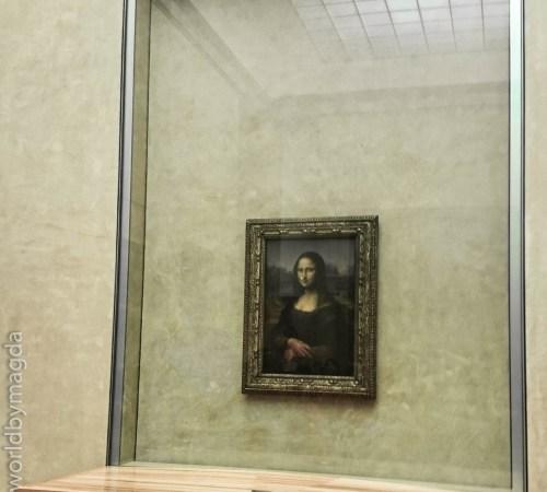Słynna Mona Lisa w Luwrze