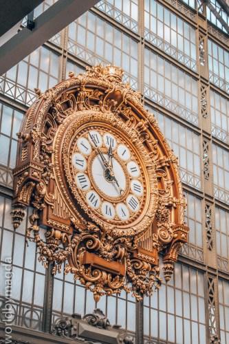 Zegar główny w Muzeum Orsay