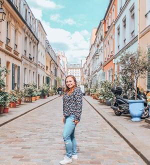 Rue Cremieux - kolorowa ulica w Paryżu