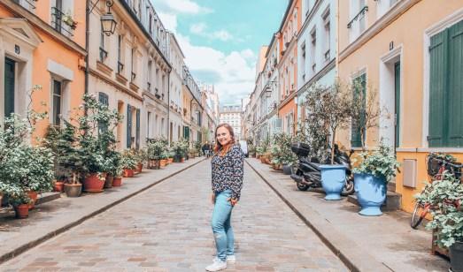 Rue Cremieux kolorowa ulica Paryża