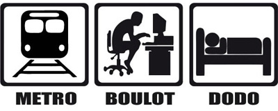 Metro boulot dodo życie w paryżu