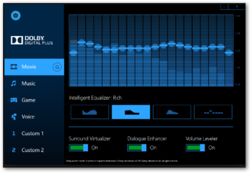 Equalizer Best Setting Dolby Audio Laptop