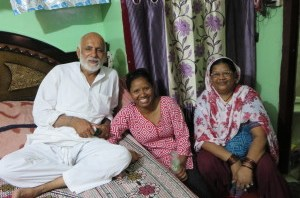 Sasmita with her former landlords