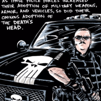 Nate Powell's About Face (review): Law enforcement and The Punisher's symbol