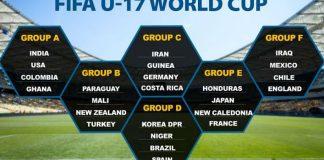 FIFA U-17 World Cup 2017 Schedule