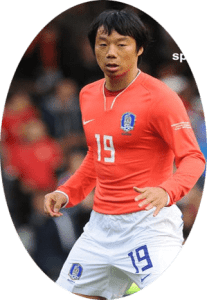 Yeom Ki-Hun is a Korean football player. He currently plays for Suwon Samsung Bluewings. Yeom made his way onto the national team following his continental performances.
