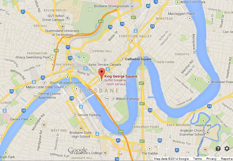 King George Square On Map Of Brisbane