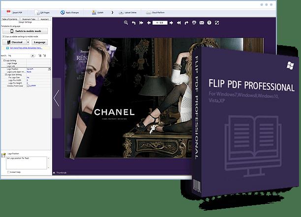 FlipBuilder Flip PDF Professional 2.4.9.11 free download