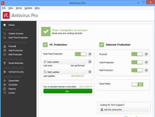 Avira Antivirus Pro 15 free download liftime crack