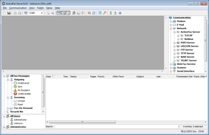 ActiveFax Server 6.70 Build 0293