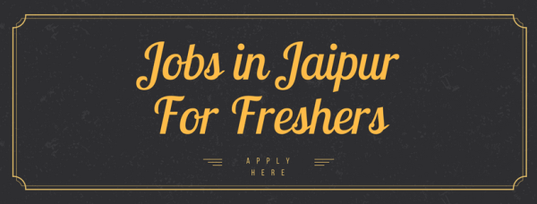 Jobs in Jaipur For Freshers