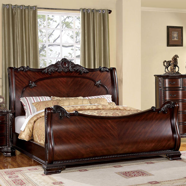 QUEEN BED LUXURIOUS BAROQUE STYLE