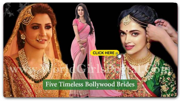Five Timeless Bollywood Brides | Today Celebrity Fashion - Deepika, Anushka, Sonam, Priyanka
