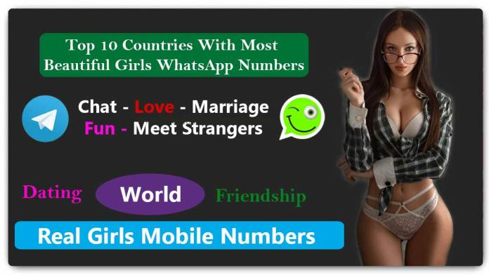 Top 10 Countries With Most Beautiful Girls WhatsApp Numbers for Dating, Friendship - 1000+ Girls WhatsApp Numbers for Friendship in World