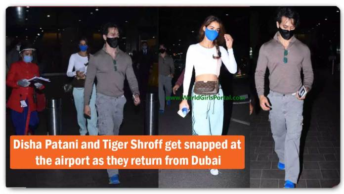 Disha Patani and Tiger Shroff get snapped at the airport as they return from Dubai