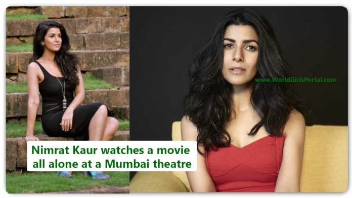 Nimrat Kaur Today News watches a movie all alone at a Mumbai theatre - Bollywood New year