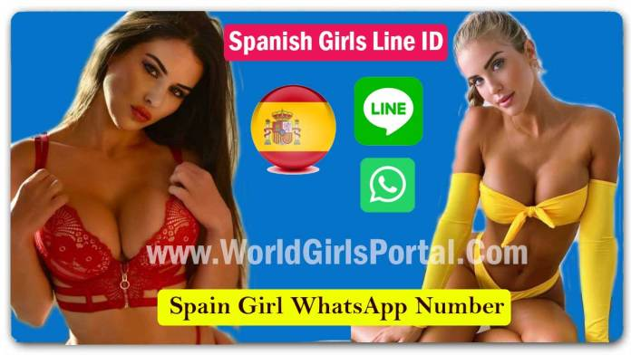 Spanish Girls Line ID for Dating, Friendship & Get Spain College Girls Phone Numbers