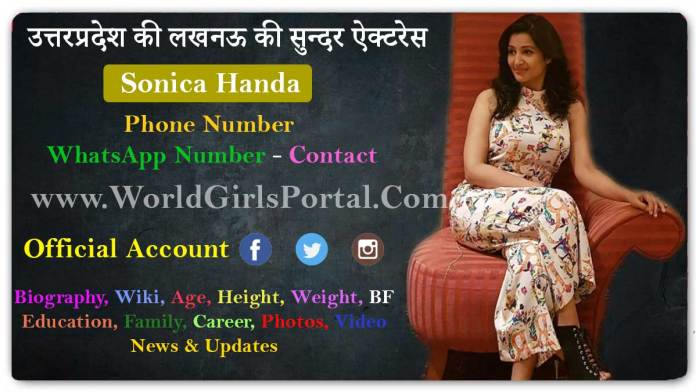 Sonica Handa WhatsApp Number Contact Details Email ID Current Address Social Media UP Model - World Girls Portal