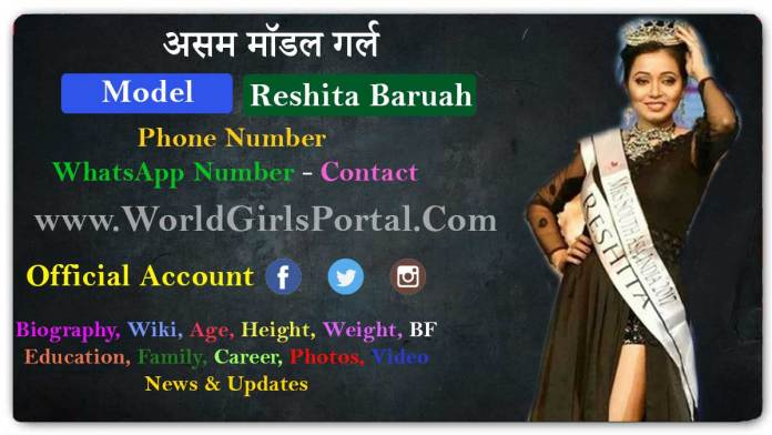 Reshita Baruah Contact Details, Assam Model Girl WhatsApp Numbers for Paid Promotion - World Girls Biography Portal