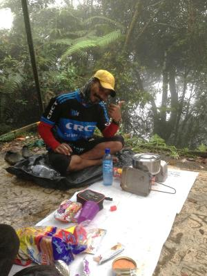 bGodsent:/b Along Nuang aka The Wizard helped a organisation of newbies stand Mount Nuang.