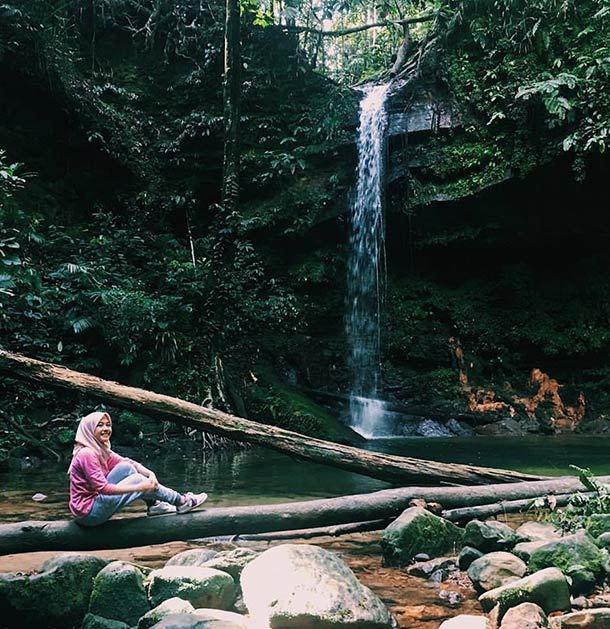 pantu waterfall Image miri