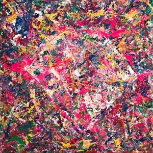 松田光一 抽象画 世界の輝きを描く