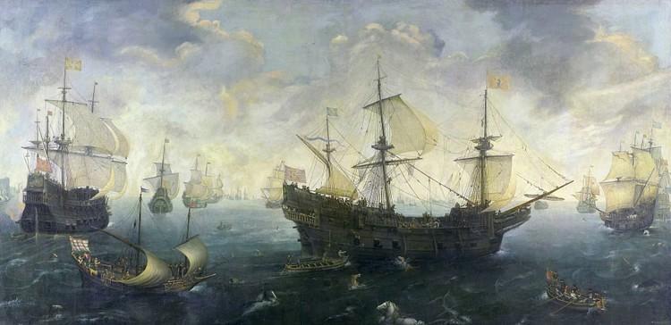 The Spanish Armada of 1588 CE By van Wieringen
