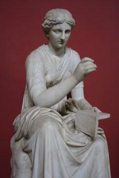 A statue of Calliope.