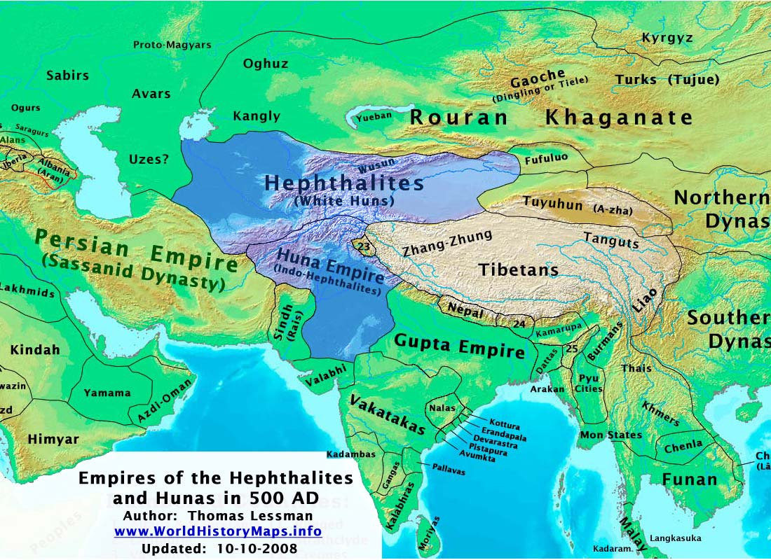 The Huna (Ephthalite) Empires
