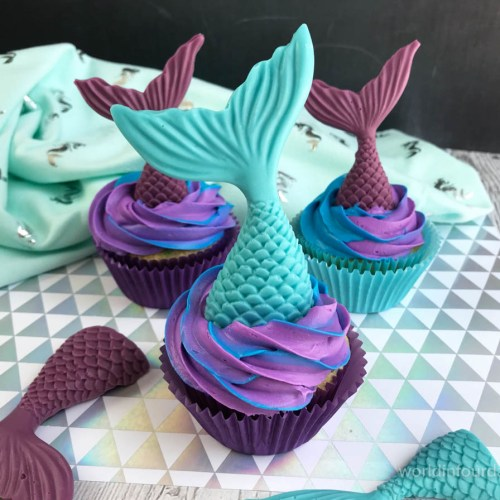 Splash Into Summer With This Mermaid Cupcake Recipe