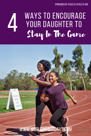 I ran cross country when I was in high school, but I sucked... BIG TIME lol, but this didn't stop me. I kept at it because of the friendships I gained, and the confidence I built over time. Now that I'm a mom, I understand the benefits of sports for girls and why it's important to encourage them to stay in the game!