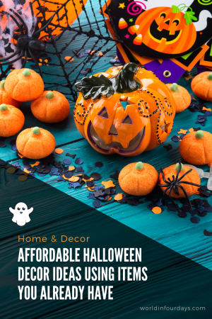 Looking for creative ways to decorate this Halloween but don't want to break the bank? Check out these tips for Affordable Halloween Decor Ideas using things you probably already have on hand.#halloween #halloweendecor #halloweenideas #halloweendecorations