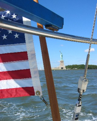 Entering New York Harbor