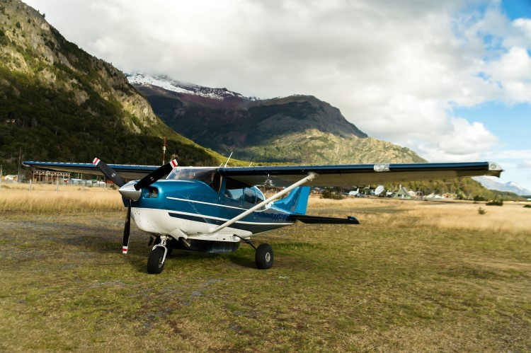 Nomad plane in Patagonia.