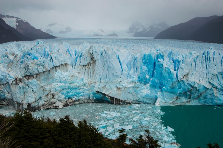 Travel to Patagonia and don't miss getting close to the Perito Moreno Glacier near El Calafate.