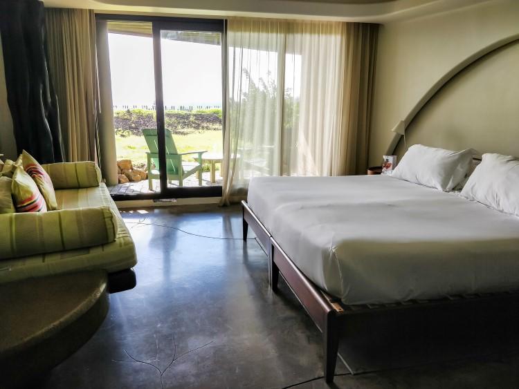 The bedroom at Hangaroa Eco Village & Spa, Easter Island Chile