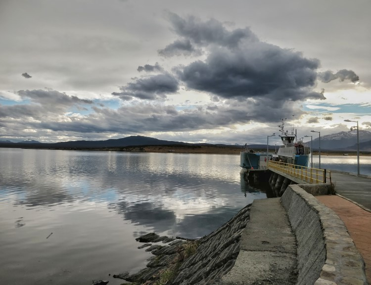The harbour in Puerto Natales, Patagonia.