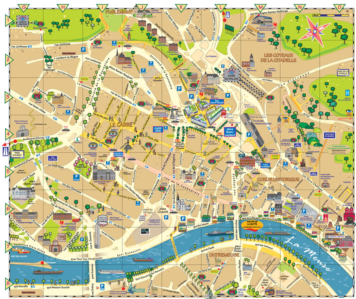 Tourist Map Of Brussels Belgium